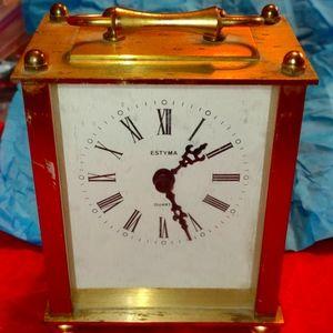 Estyma gold vintage mantle clock